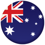 Australia Country Flag 25mm Keyring